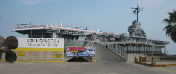 The USS Lexington in Corpus Christi